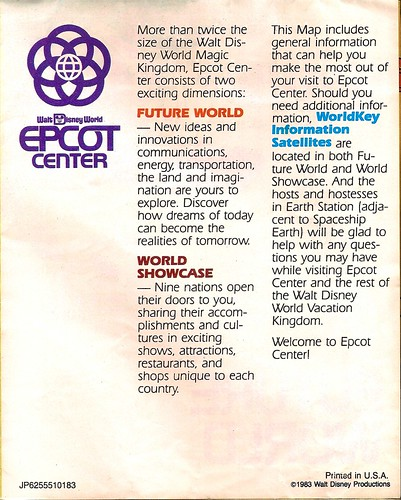 EPCOT Center map 1983 2 | by Gator Chris