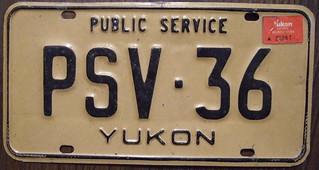 YUKON 1985 baseplate with x88 stkr Public Service Vehicle plate