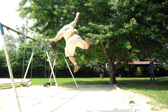 Me Jumping from a Swing, Some park, Cookeville, TN