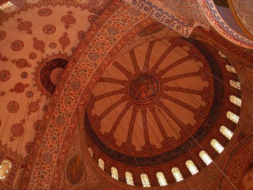 Blue Mosque ceiling dome | Melita Dennett | Flickr