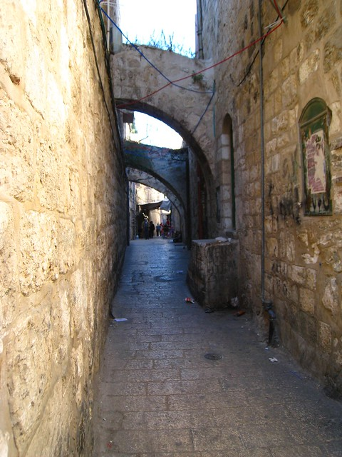 Alley with arches