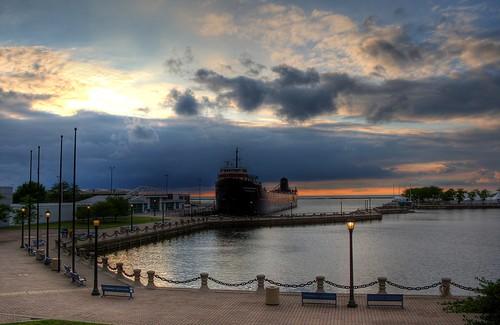 ohio lake frank harbor lakeerie cleveland william inner erie steamship mather freighter williamgmather szekely frankszekely