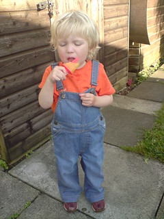 Dungarees and lolly | by cole007