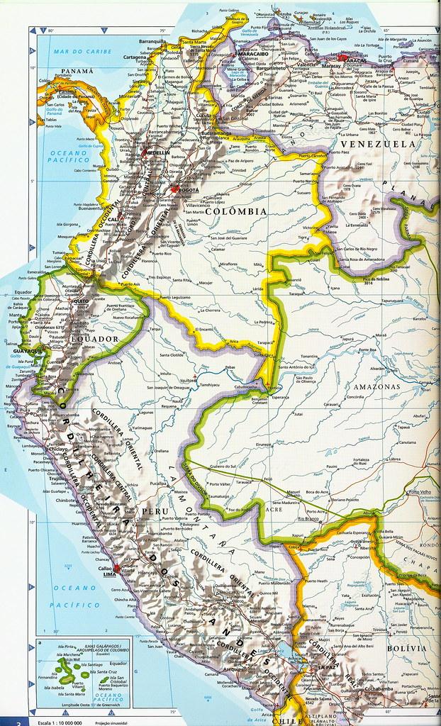 Mapa América del Sur - América do Sul - South America map | Flickr