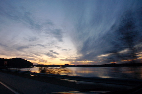blue sunset sky black color reflection beautiful yellow sunrise driving darkness tennessee