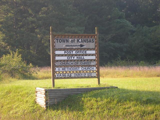 Town of Kansas Sign
