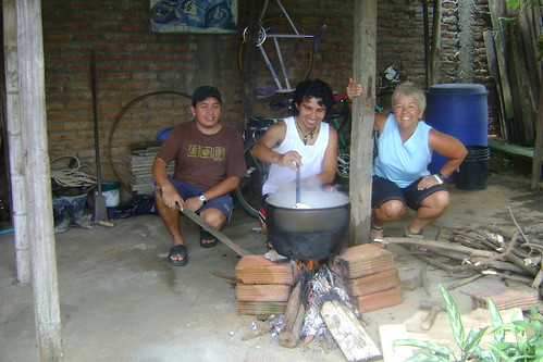 DSC00538 Miller, Pablo, and Nancy making Ajiaco soup for Mother's Day | by Hobobiker