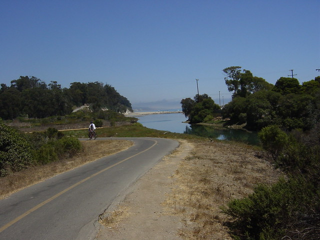 Biker on Coast Trail to Goleta