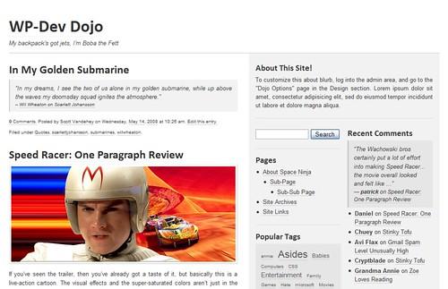 Dojo, a WordPress Theme