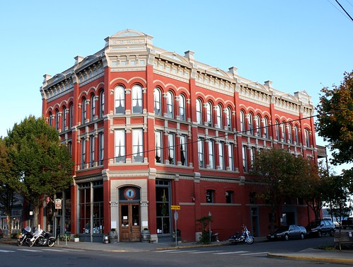 The N.D. Hill Building (1889) home of the Water Street Hotel.  Port Townsend Washington, Octiber 10 2008. | by Dan Haneckow