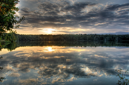 sunset sky lake reflection clouds forest pond woods peace peaceful symmetry slovenia serene slovenija hdr msh endofday greatnature ribniki jpingjk msh0709 msh070911 rački msh1110 msh111020