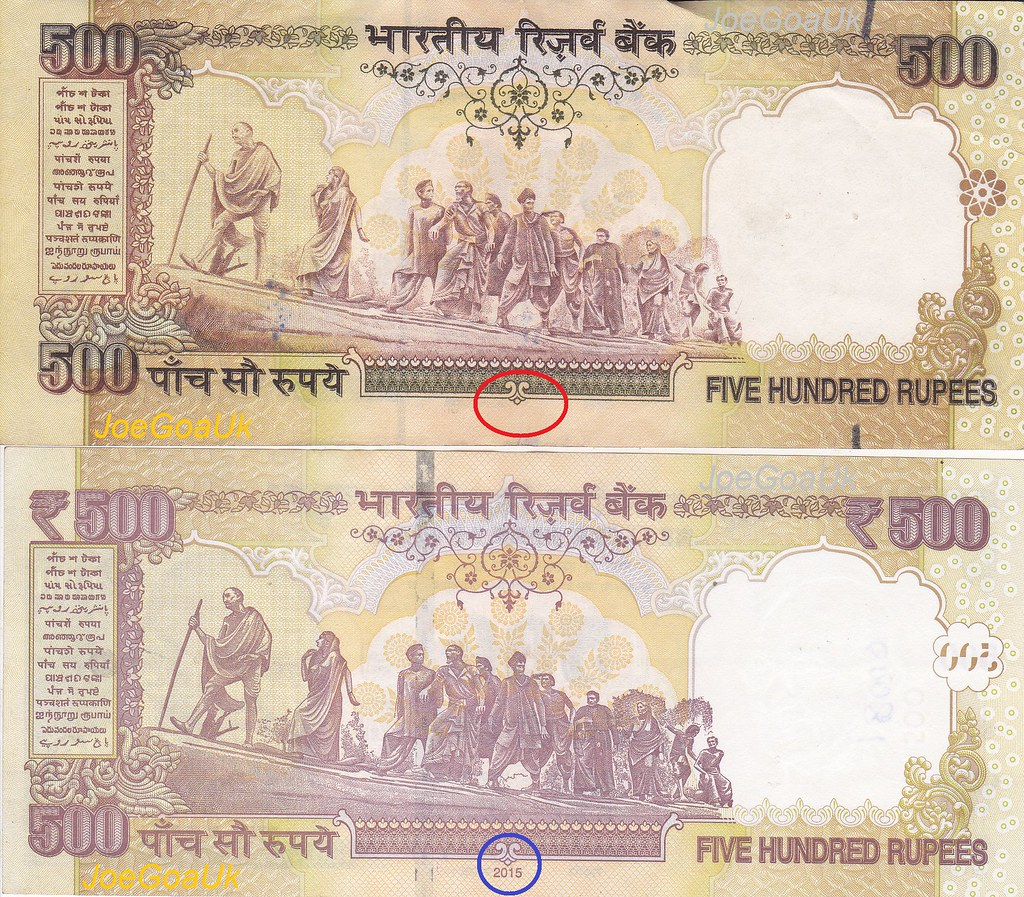 Older notes withdrawn: Old and new Indian Currency notes | Flickr