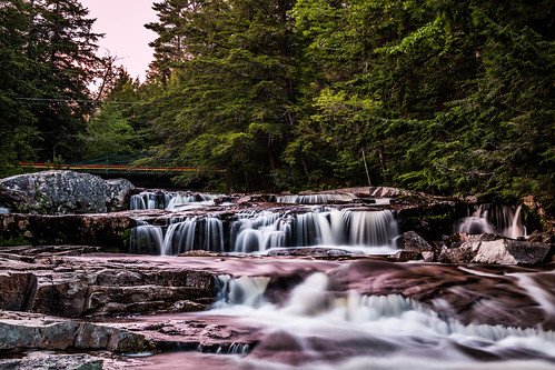 sunset waterfall newengland newhampshire whitemountains lighttrails jacksonnewhampsire