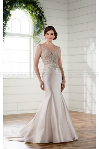 Essense of Australia Formal Wedding Dress With Beaded And Long Train Style D2294 | by fashion_feel