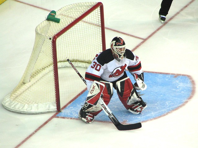 Martin Brodeur at the Ready