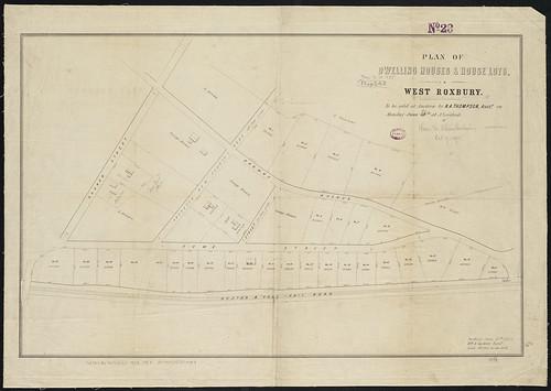 Plan of dwelling houses & house lots, in West Roxbury   Flickr