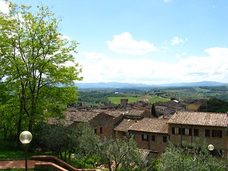 View over San Gimignano and surrounds | by gorbulas_sandybanks