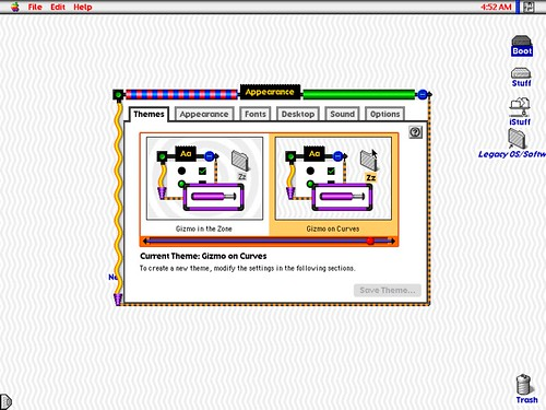 Gizmo on Curves | Themes from the Mac OS 8 2d8 Beta :) They