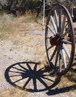 wagonwheel and its shadow