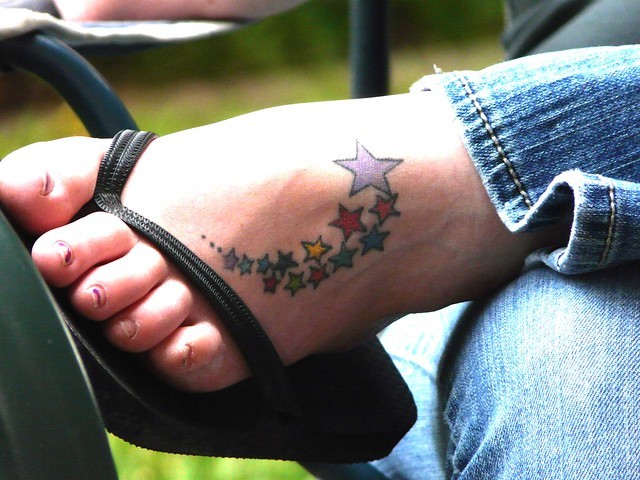 Foot with Stars