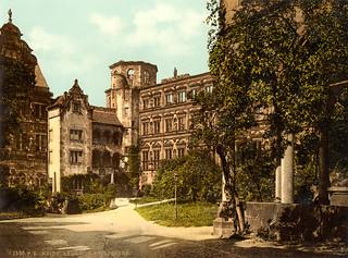 Castle Yard, Heidelberg, Germany, ca. 1895
