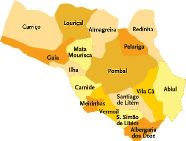 Concelho De Pombal Portugal Mapa Das Freguesias Jorge Bastos