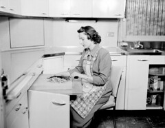 Home economist chopping nuts, 1950 | by Seattle Municipal Archives