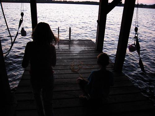 sunset fishing dusk houston lakehouston
