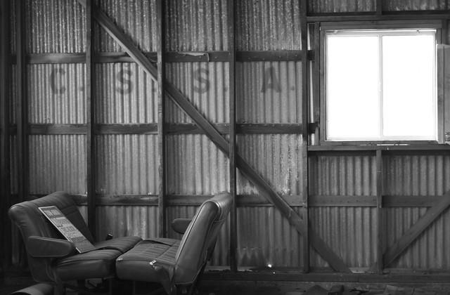 C.S.S.A. hut interior on Treasure Island