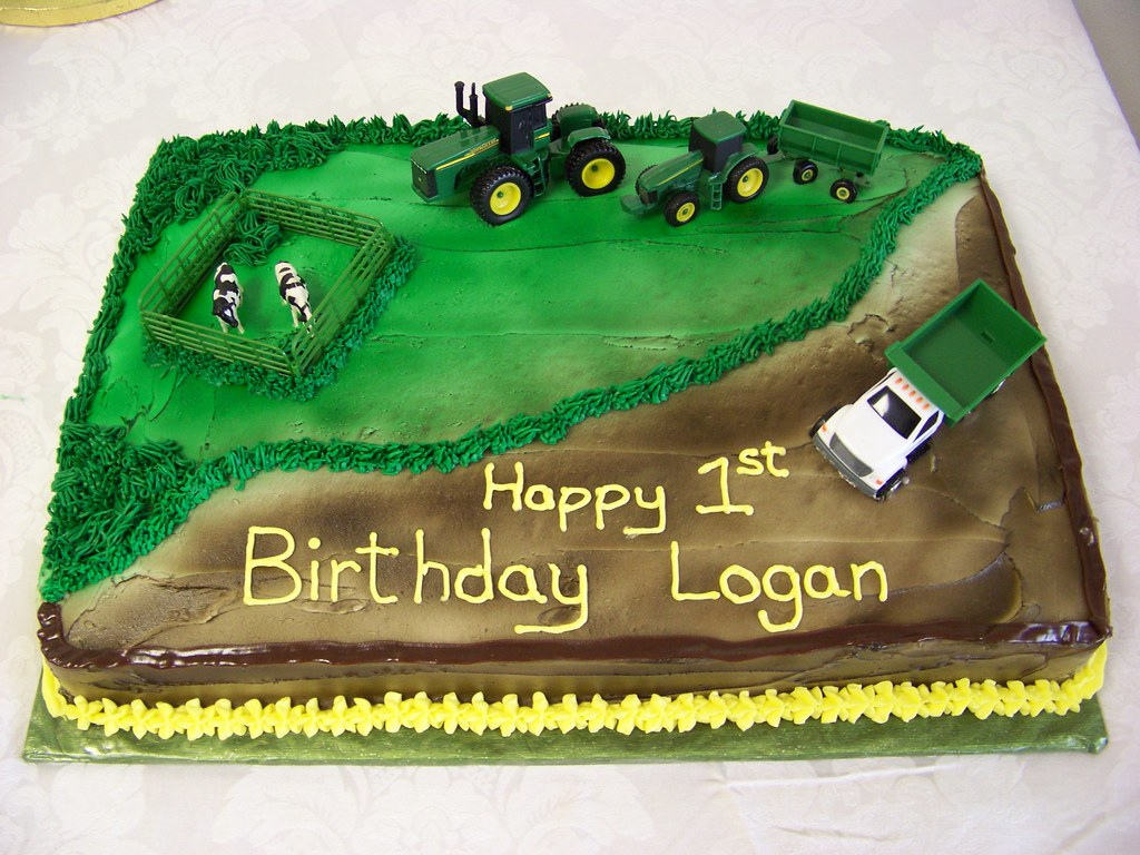 Fantastic John Deere Birthday Cake Ii A 1 2 Sheet Chocolate Cake Air Flickr Funny Birthday Cards Online Elaedamsfinfo