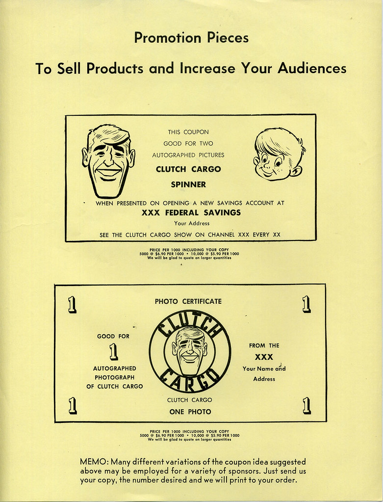 Clutch Cargo promo material | c  1961 | Dan Goodsell | Flickr