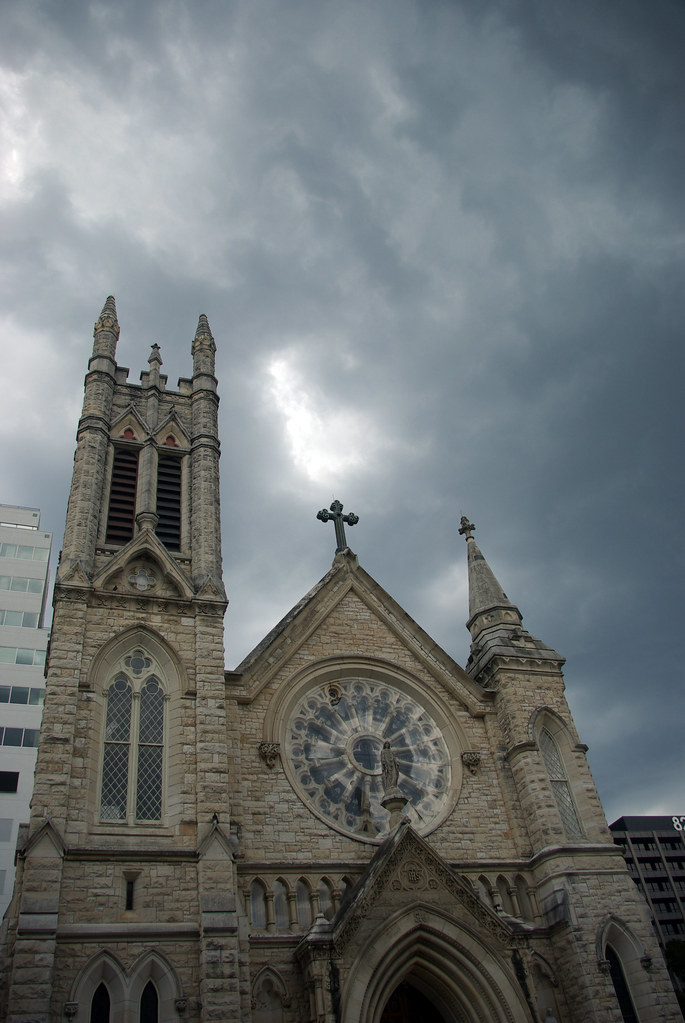 Storm Clouds Above Cathedral, Austin, TX
