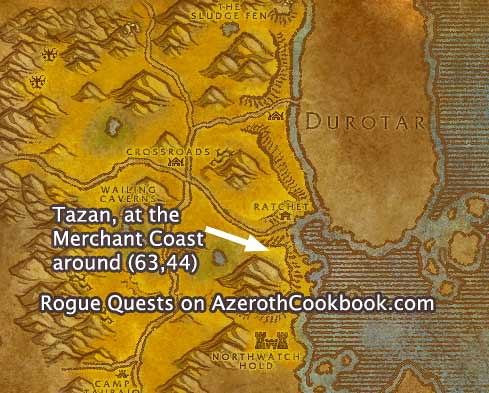 Wow classic rogue quests