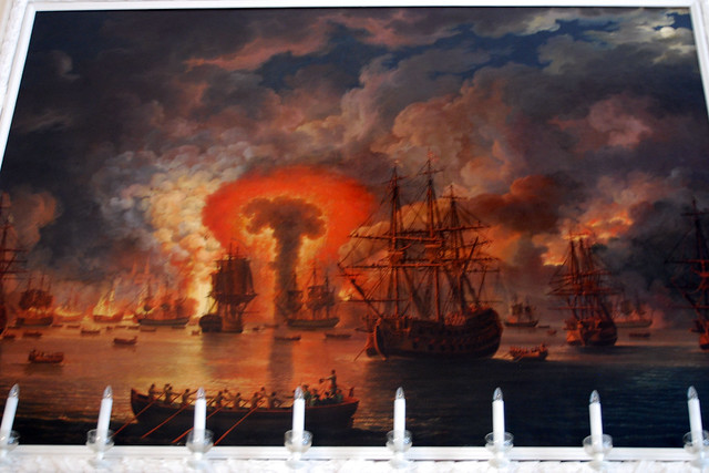 The Burning of the Turkish Fleet in the Chesme Harbour