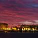 Canary Wharf Sunset, London, England