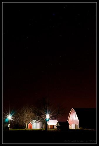 night barn rural stars geotagged farm indiana silo nightsky sheridan hamiltoncounty d300 innightsky