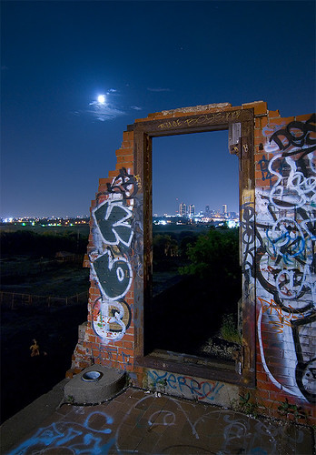 urban abandoned night ruins texas fort packing meat worth swift exploration urbex stockyards