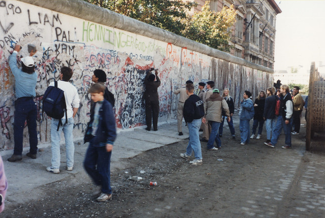Berlin Wall 1990. (Photo was  taken from the east side!)