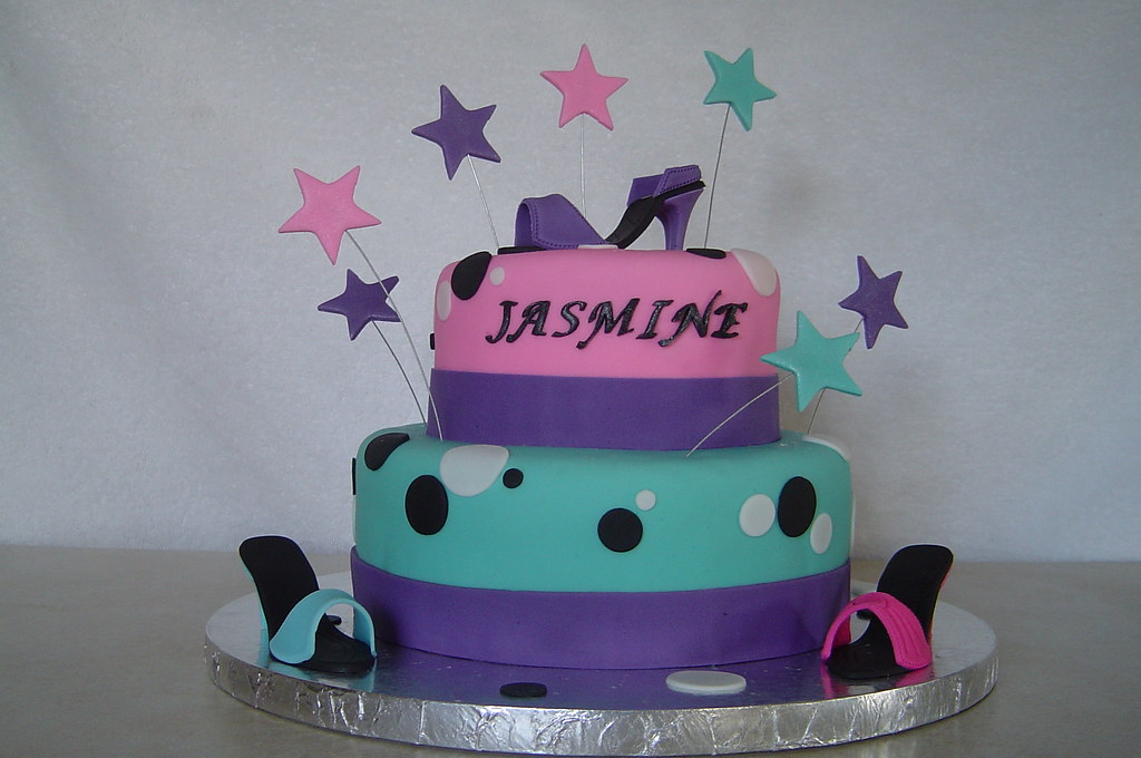 Cool Shoe Diva Birthday Cake Birthday Cake For An 8 Year Old Gi Flickr Funny Birthday Cards Online Chimdamsfinfo