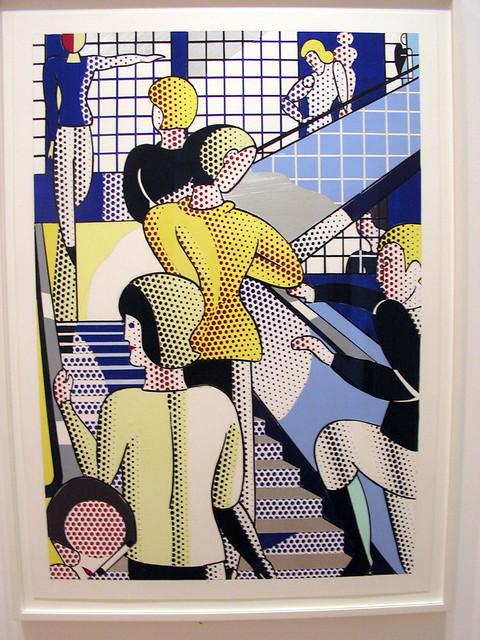 Bauhaus stair by Roy Lichtenstein