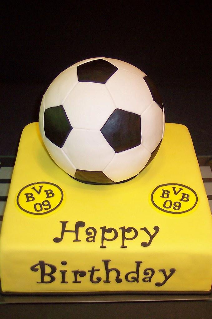 Soccer Football Cake Fussballtorte Eine Torte Zum Geburtst