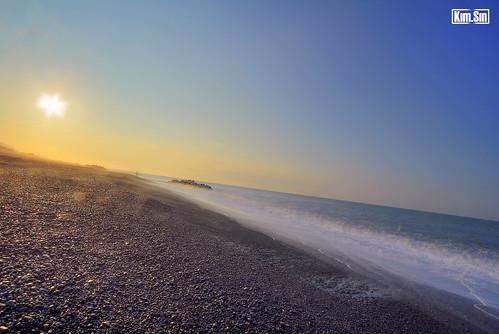 beach japan sunrise shizuoka hdr lanscape 静岡 2011 駿河湾 kimsin