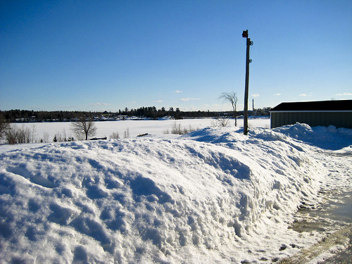 family blue winter sky snow canada river north bluesky newbrunswick northern snowbanks miramichi