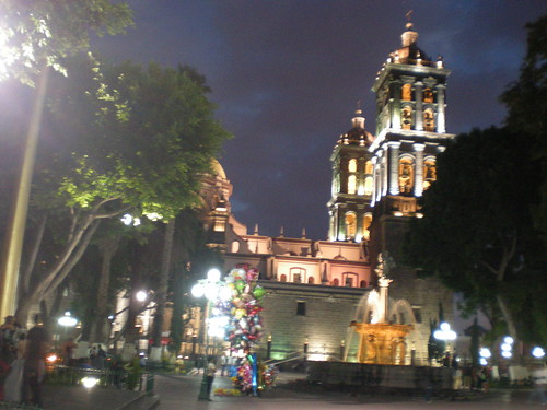 Puebla: Cathedral from Plaza Principal