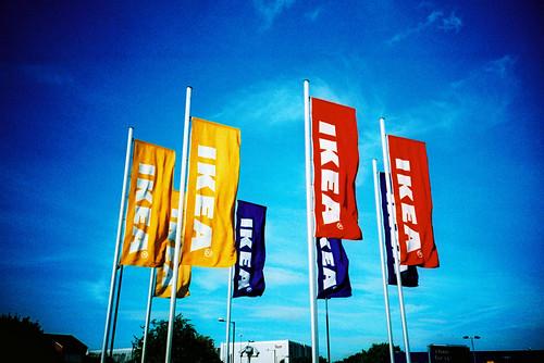 Ikea Flags / Kodak E100G xpro | by slimmer_jimmer