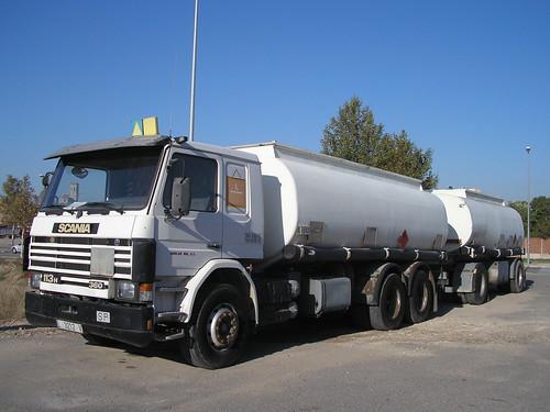 Scania amb remolc a Tàrrega (Lleida)
