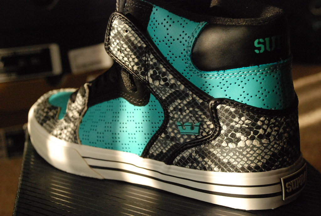 new products 9b245 bea80 Supra Vaider in Teal and Snakeskin |