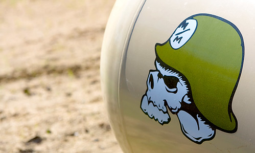 Mulisha skull on the propane tank