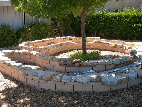 Front garden - Keyhole bed being prepared | by London Permaculture