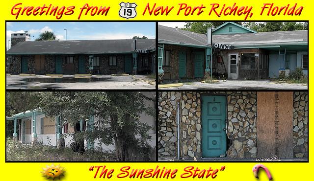 Edgewater Motel (Faux Postcard 2 of 2) New Port Richey, FL